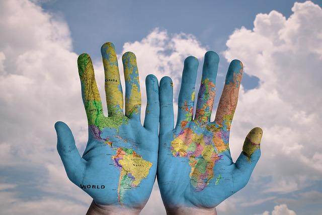 mapa na dlaních