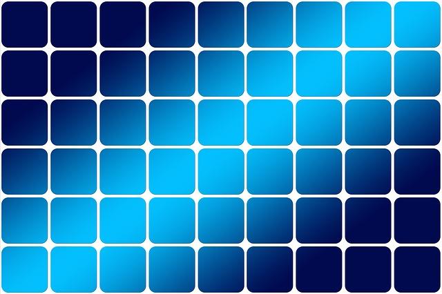 modré dlaždice