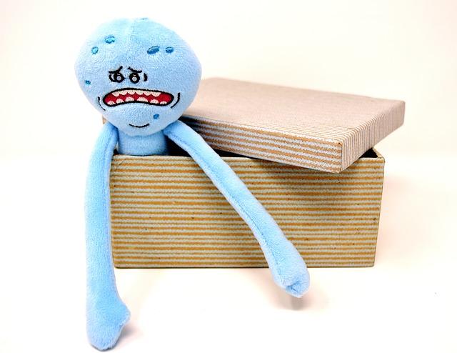 ošklivý v krabici