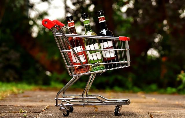 Symbolický nákupní vozíček